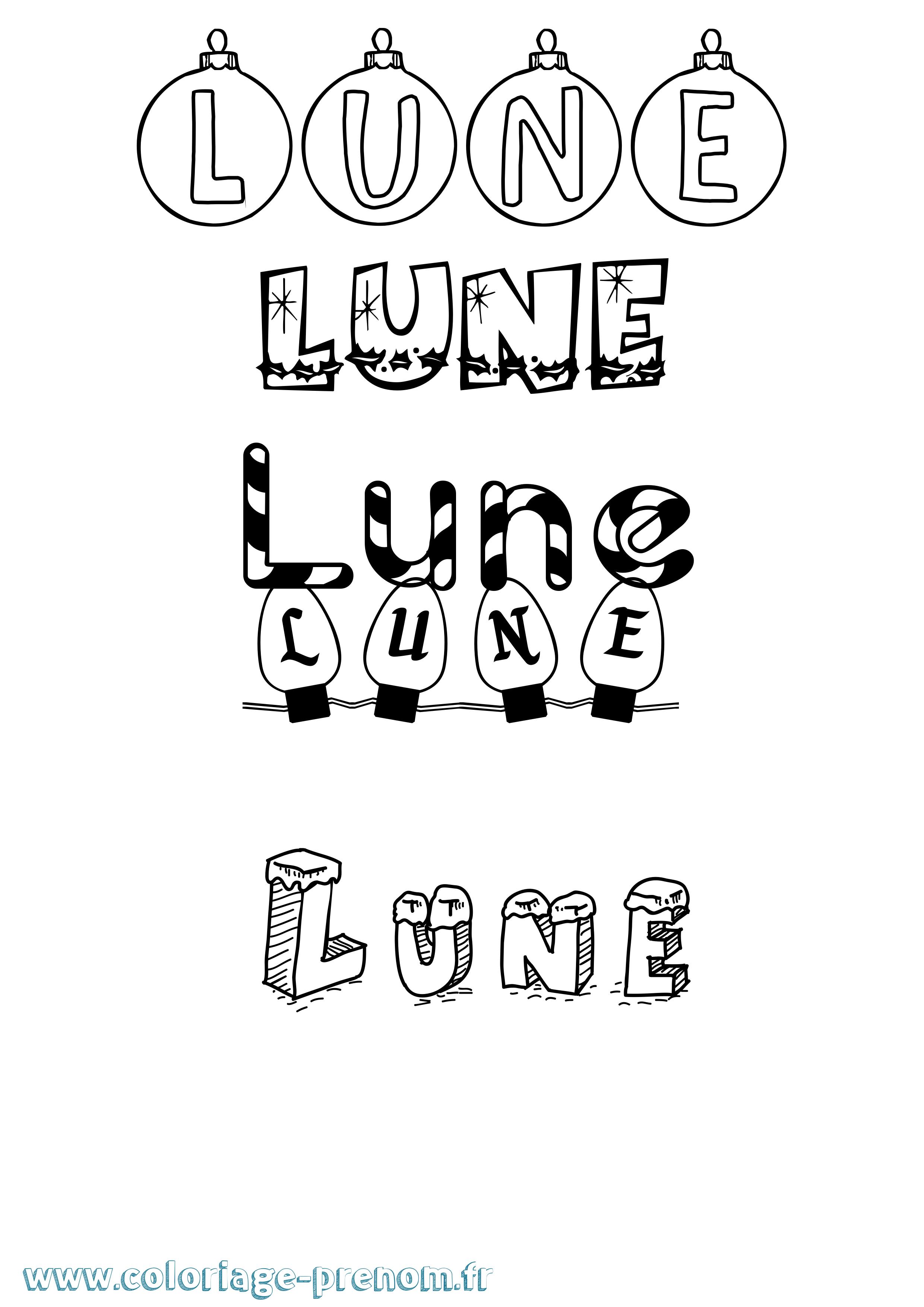 Coloriage Du Prenom Lune A Imprimer Ou Telecharger Facilement