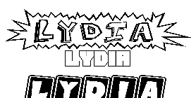 Coloriage Lydia