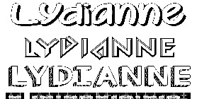 Coloriage Lydianne