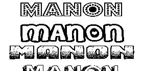 Coloriage de pr noms imprimer ou t l charger facilement - Coloriage manon ...
