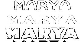 Coloriage Marya
