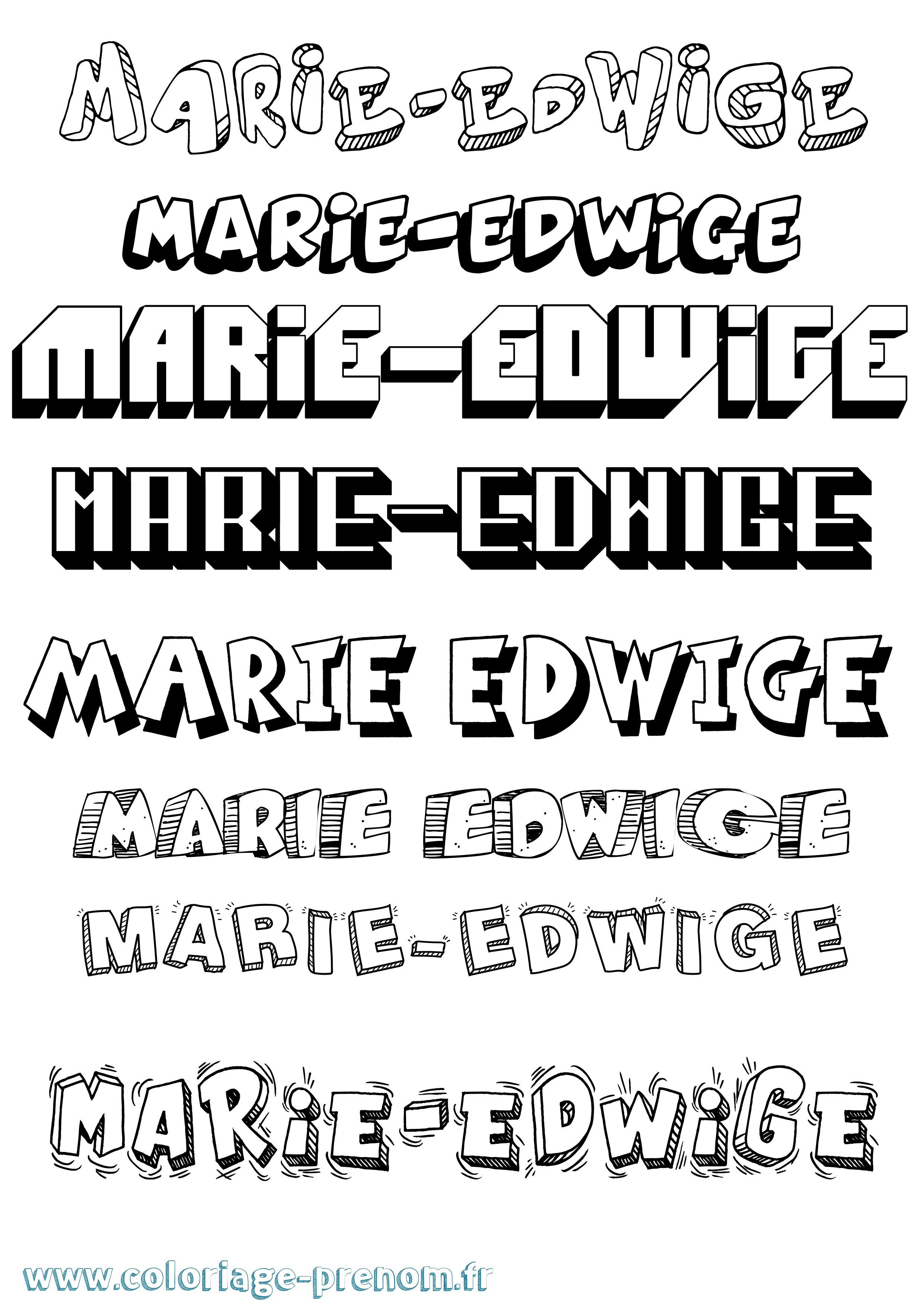 Coloriage du prénom Marie-edwige : à Imprimer ou ...