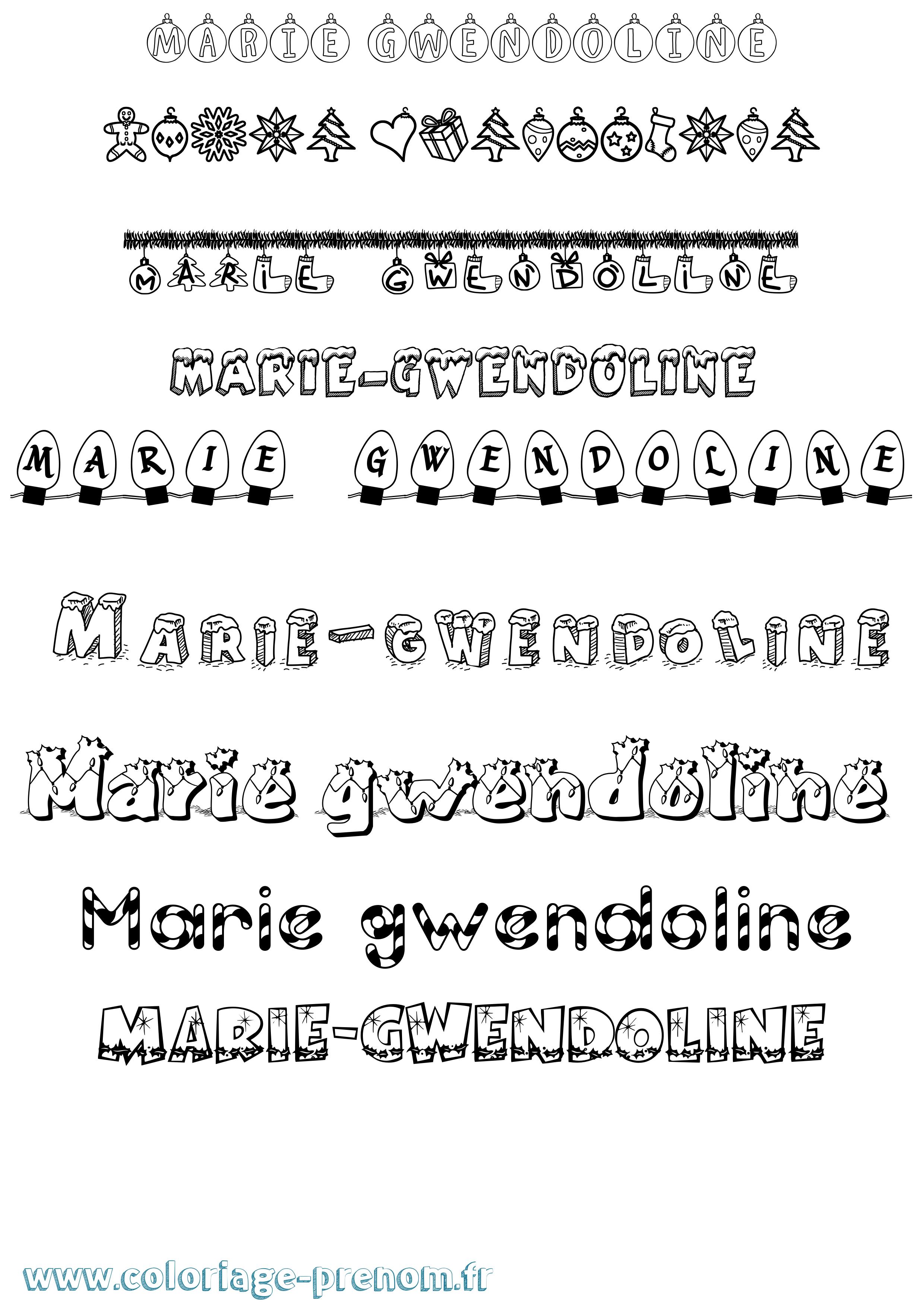 Coloriage du prénom Marie-gwendoline : à Imprimer ou ...