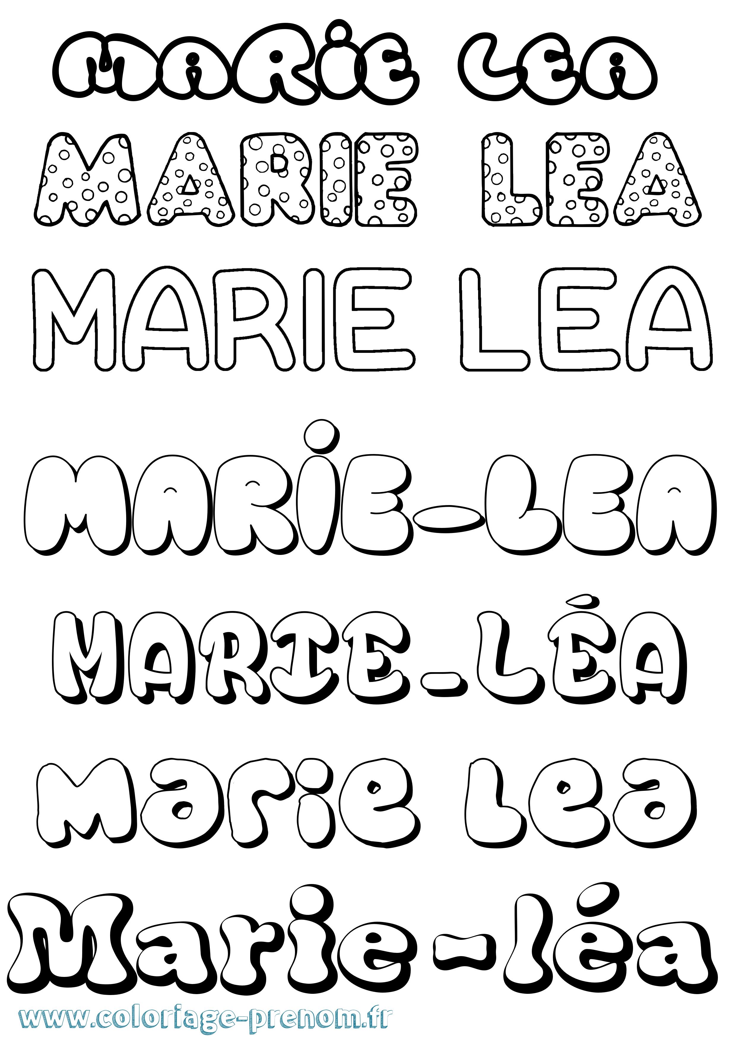 Coloriage du prénom Marie-léa : à Imprimer ou Télécharger ...