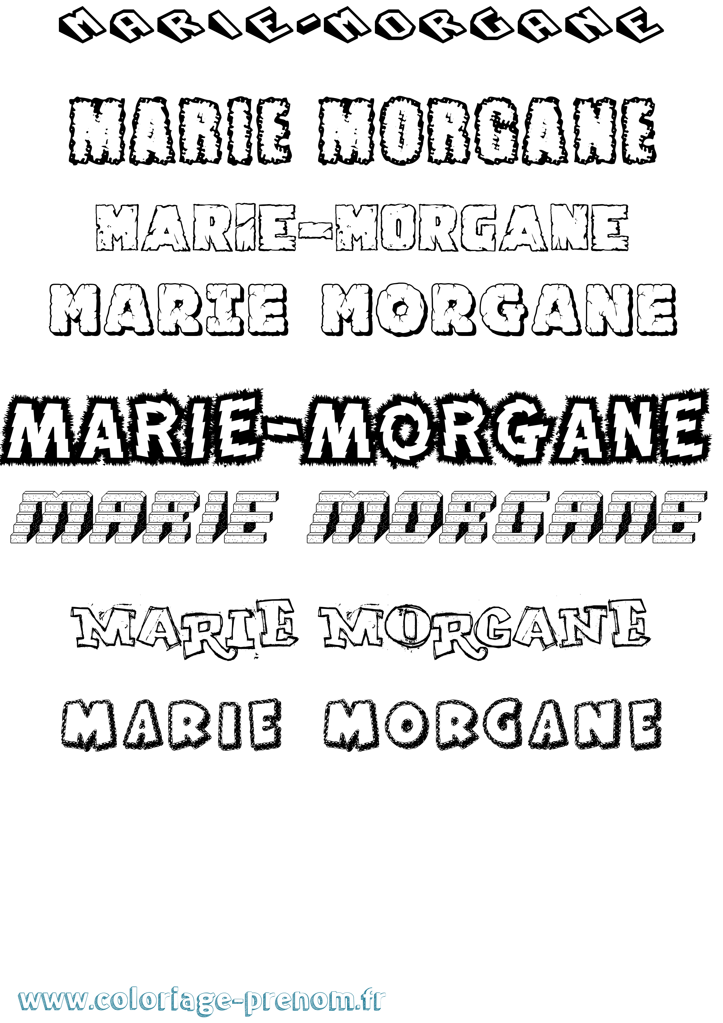 Coloriage du prénom Marie-morgane : à Imprimer ou ...