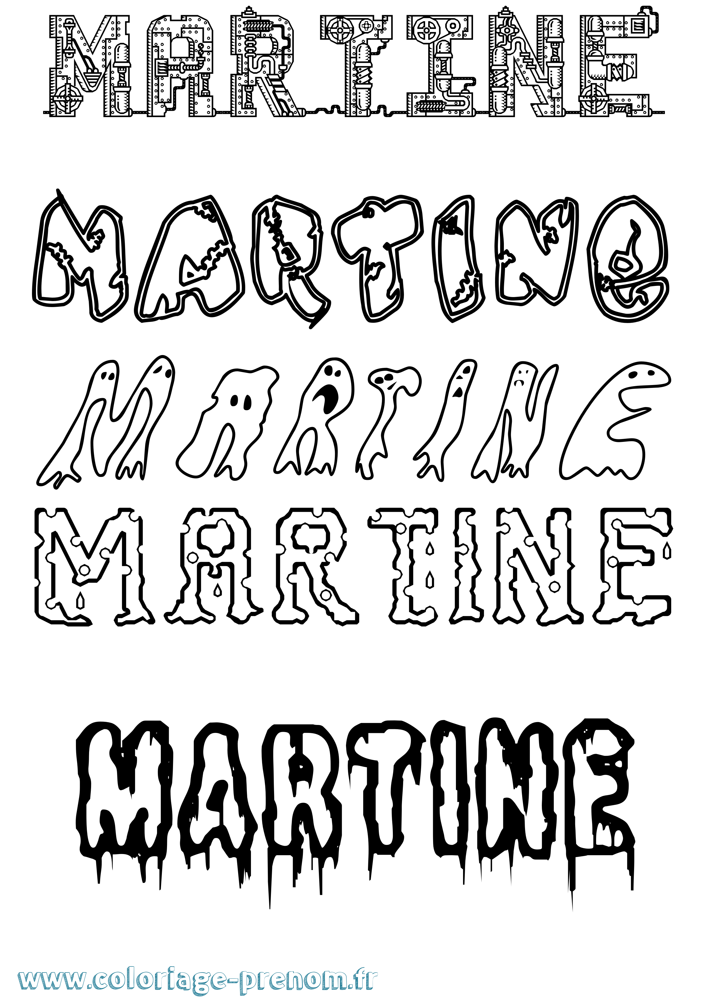 Coloriage du prénom Martine : à Imprimer ou Télécharger ...