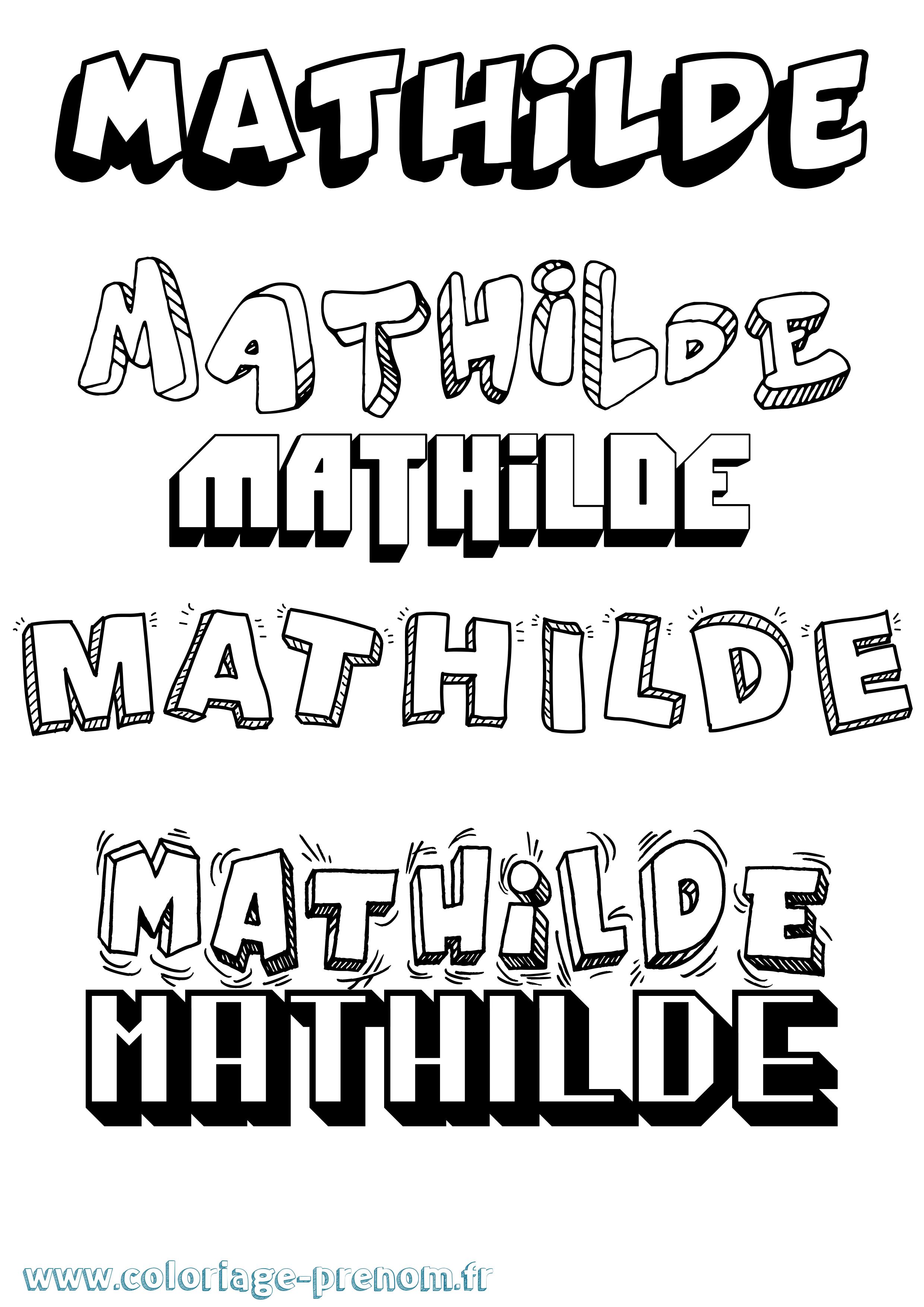Coloriage du prénom Mathilde : à Imprimer ou Télécharger ...