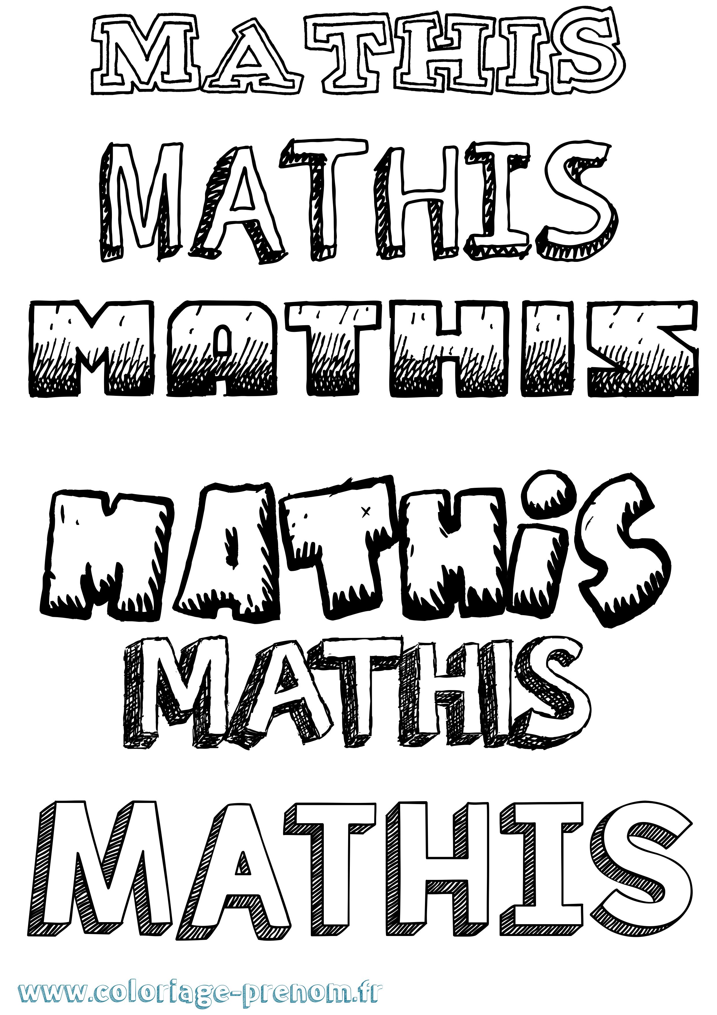 Coloriage du prénom Mathïs : à Imprimer ou Télécharger ...