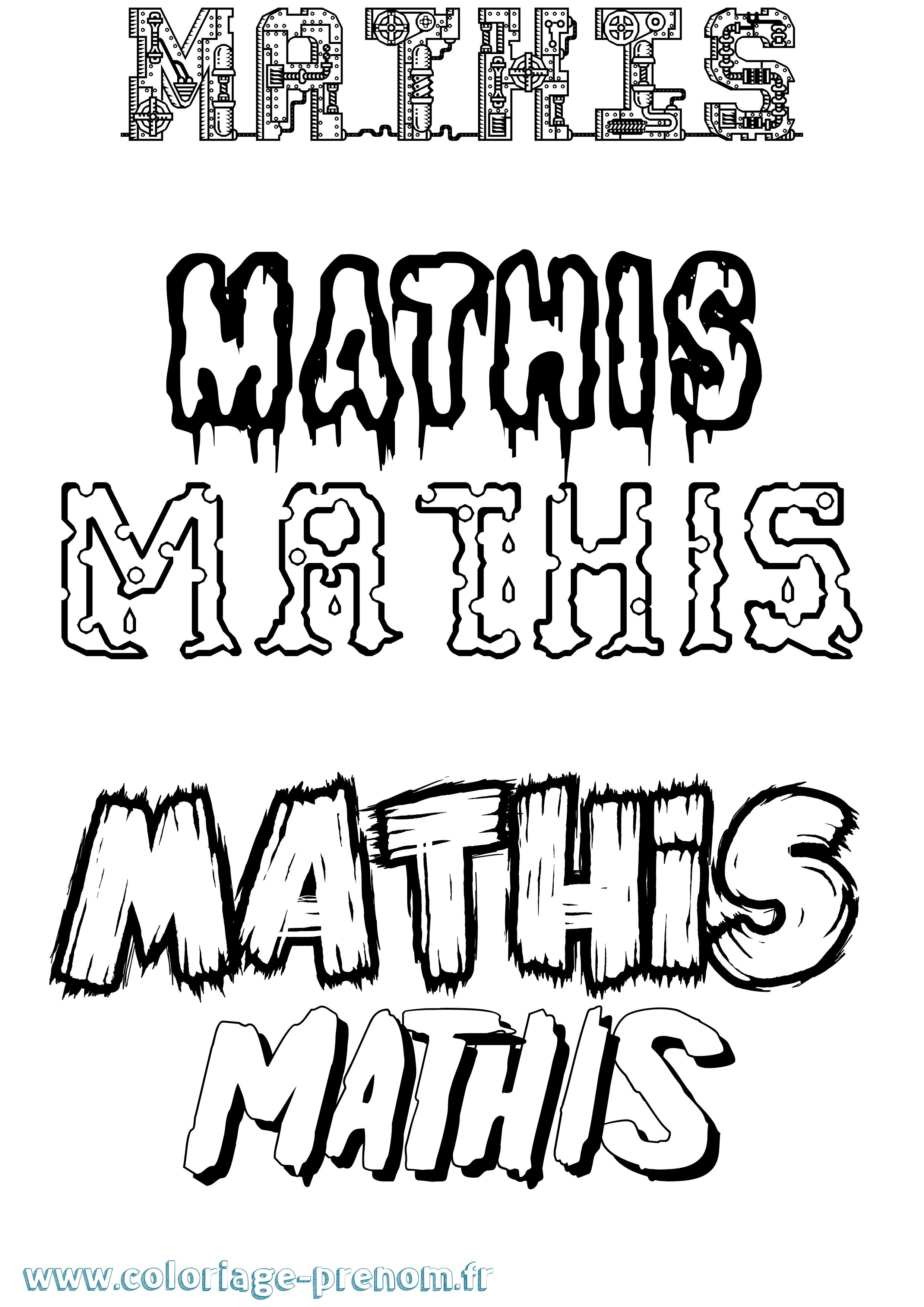 Coloriage du prénom Mathis : à Imprimer ou Télécharger ...