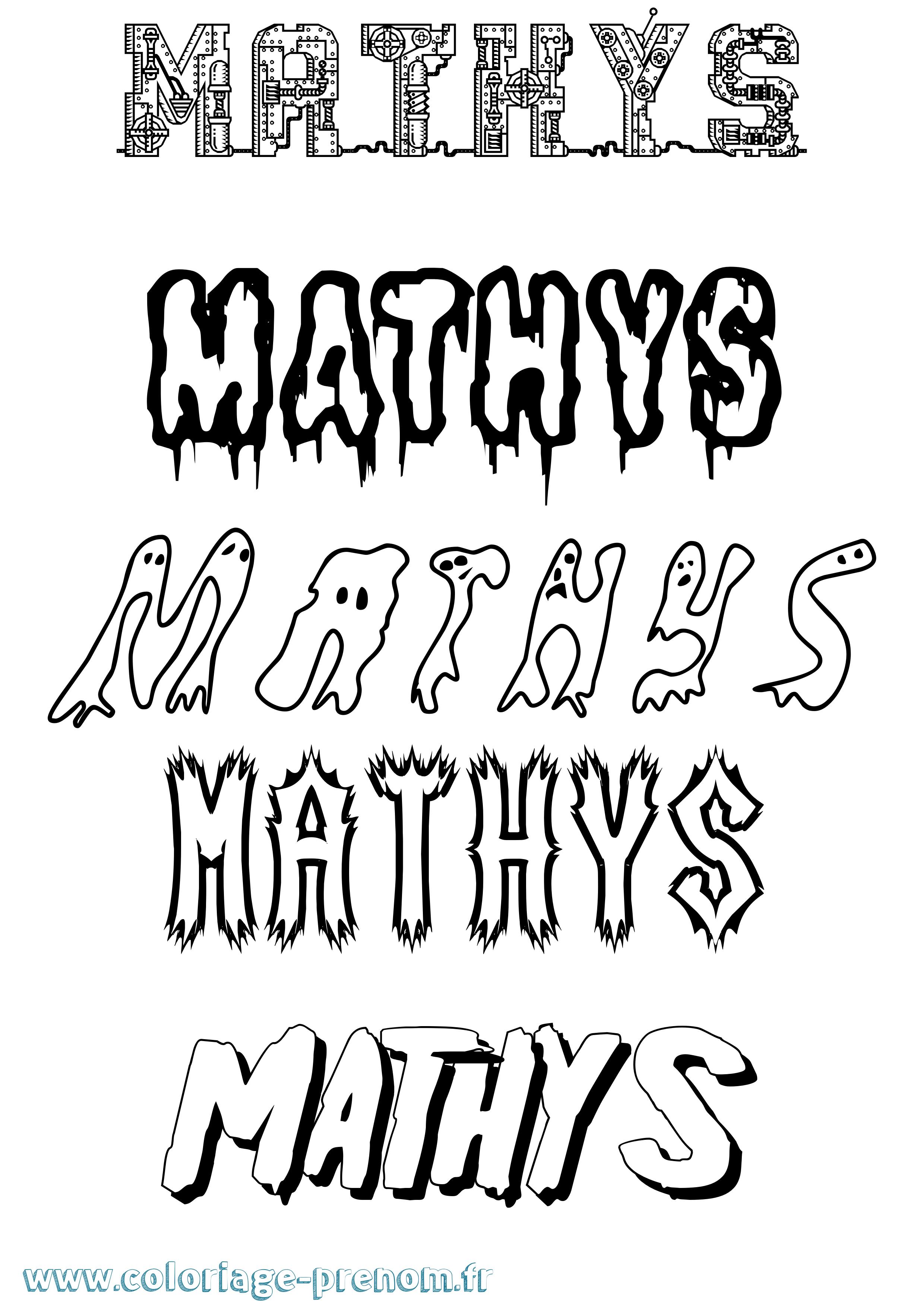 Coloriage du prénom Mathys : à Imprimer ou Télécharger ...