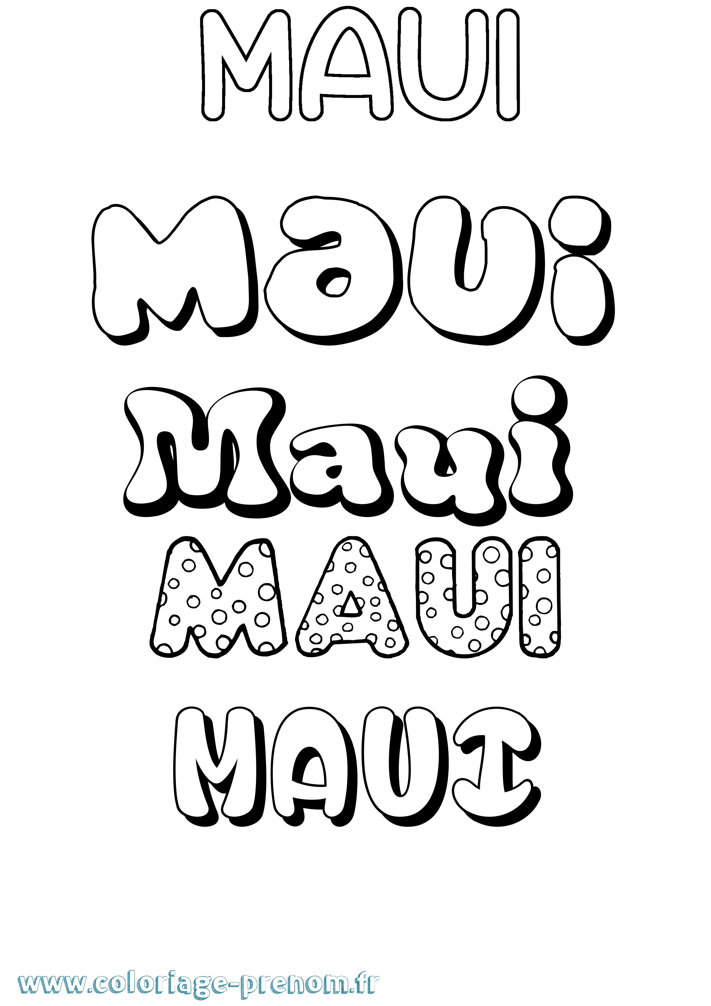 Coloriage Du Prénom Maui à Imprimer Ou Télécharger Facilement