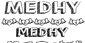 Coloriage Medhy