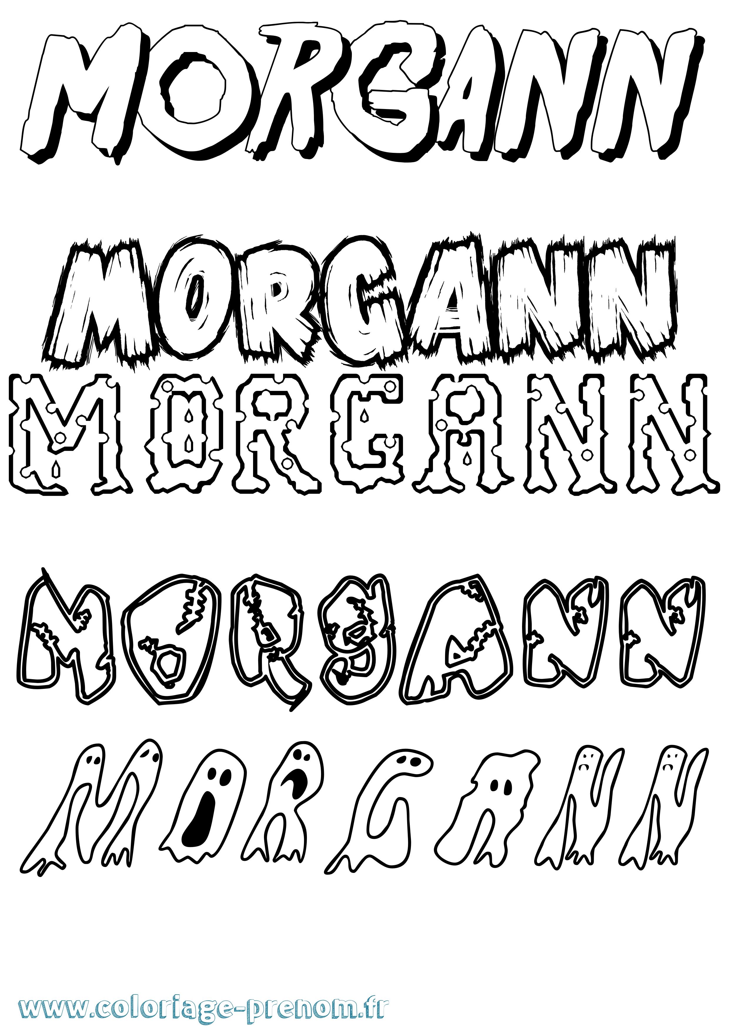 Coloriage du prénom Morgann : à Imprimer ou Télécharger ...