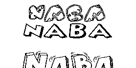 Coloriage Naba