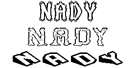 Coloriage Nady