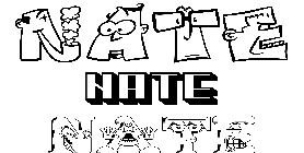 Coloriage Nate