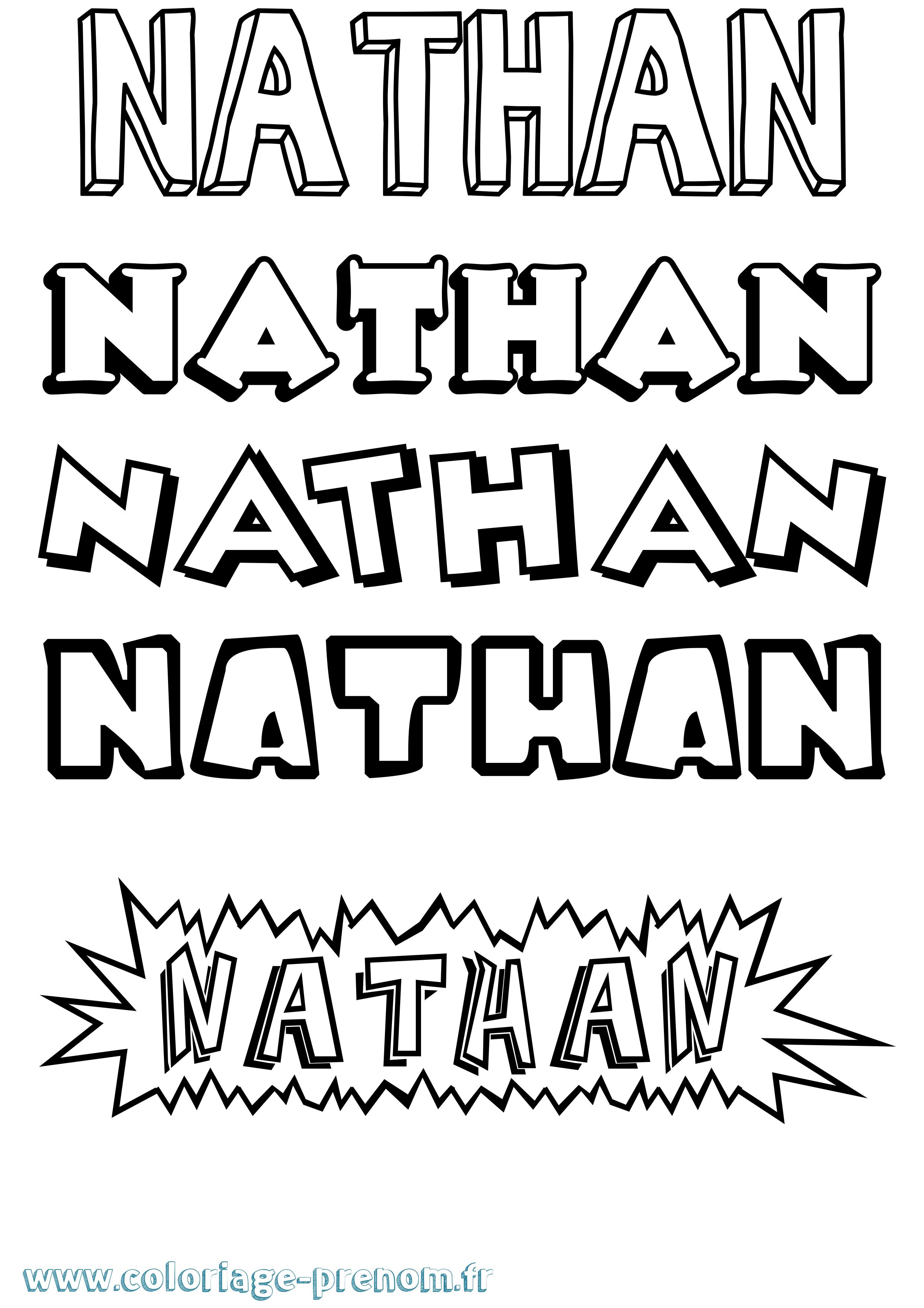 Coloriage du pr nom nathan imprimer ou t l charger - Coloriage nathan ...
