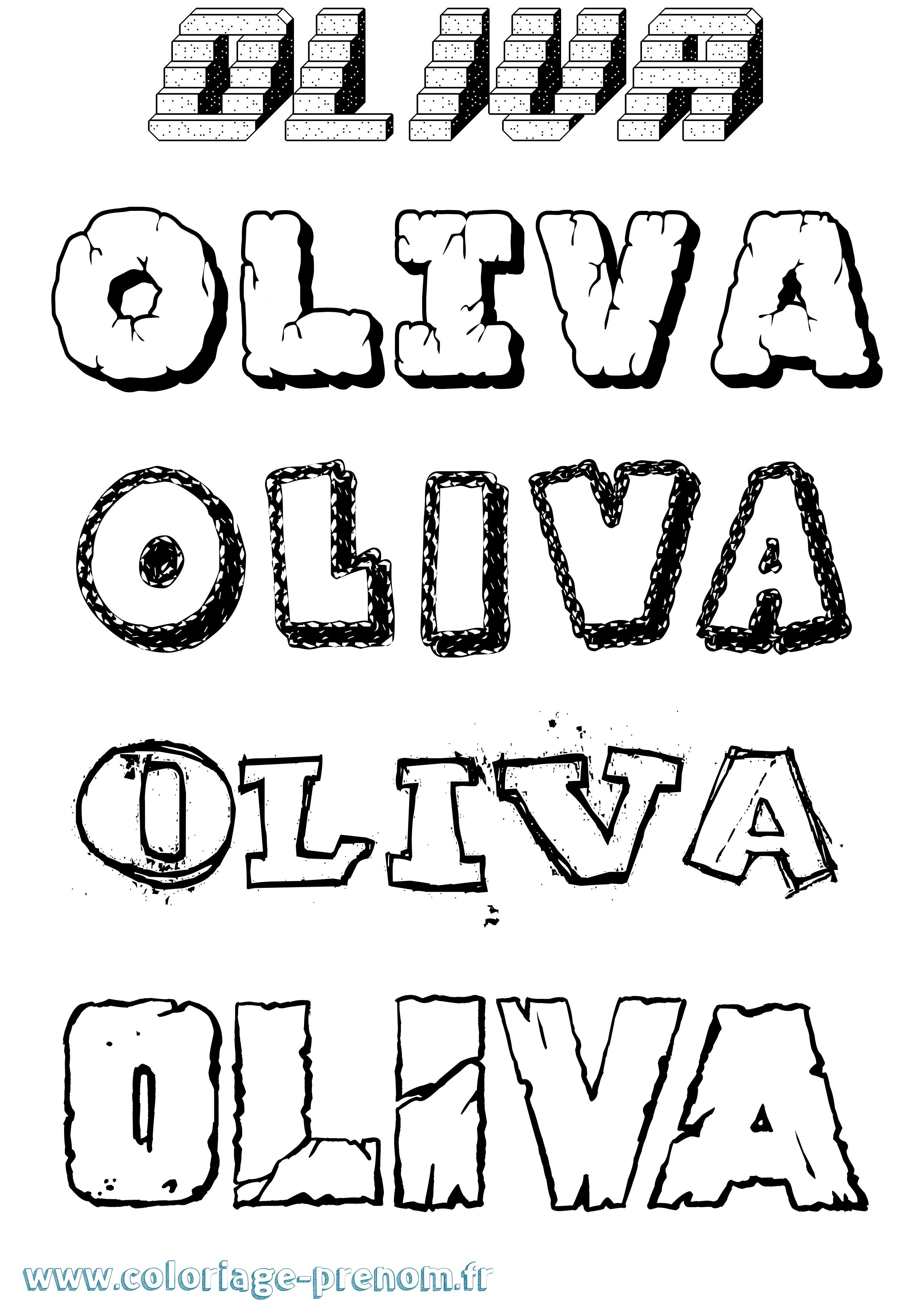 Coloriage du prénom Oliva : à Imprimer ou Télécharger ...