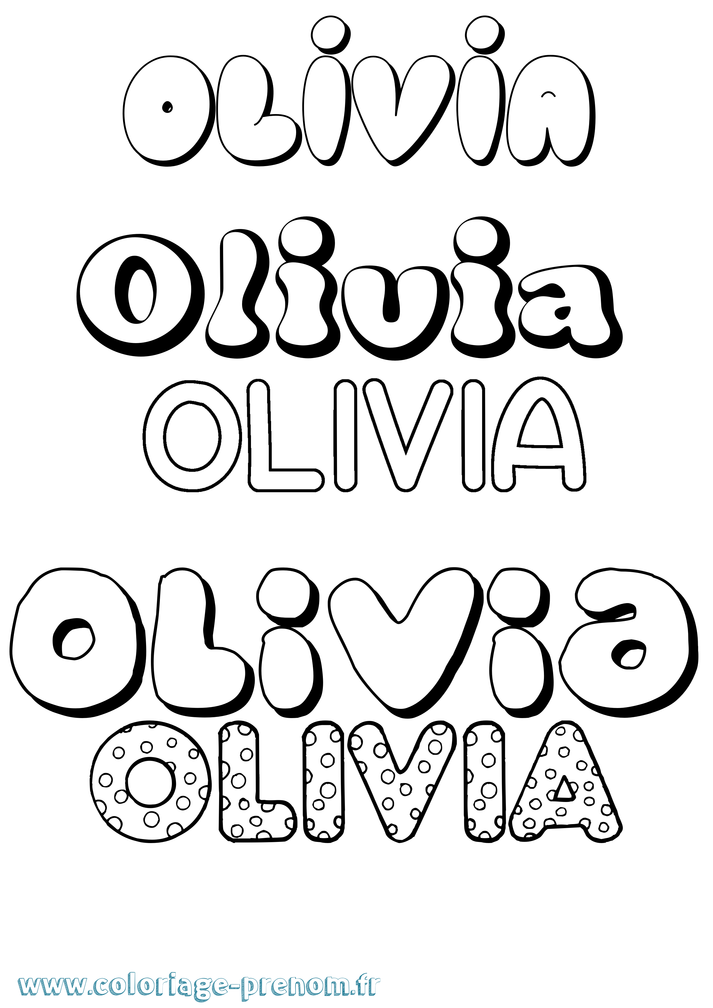 Coloriage du prénom Olivia : à Imprimer ou Télécharger ...