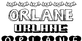 Coloriage Orlane
