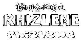 Coloriage Rhizlene