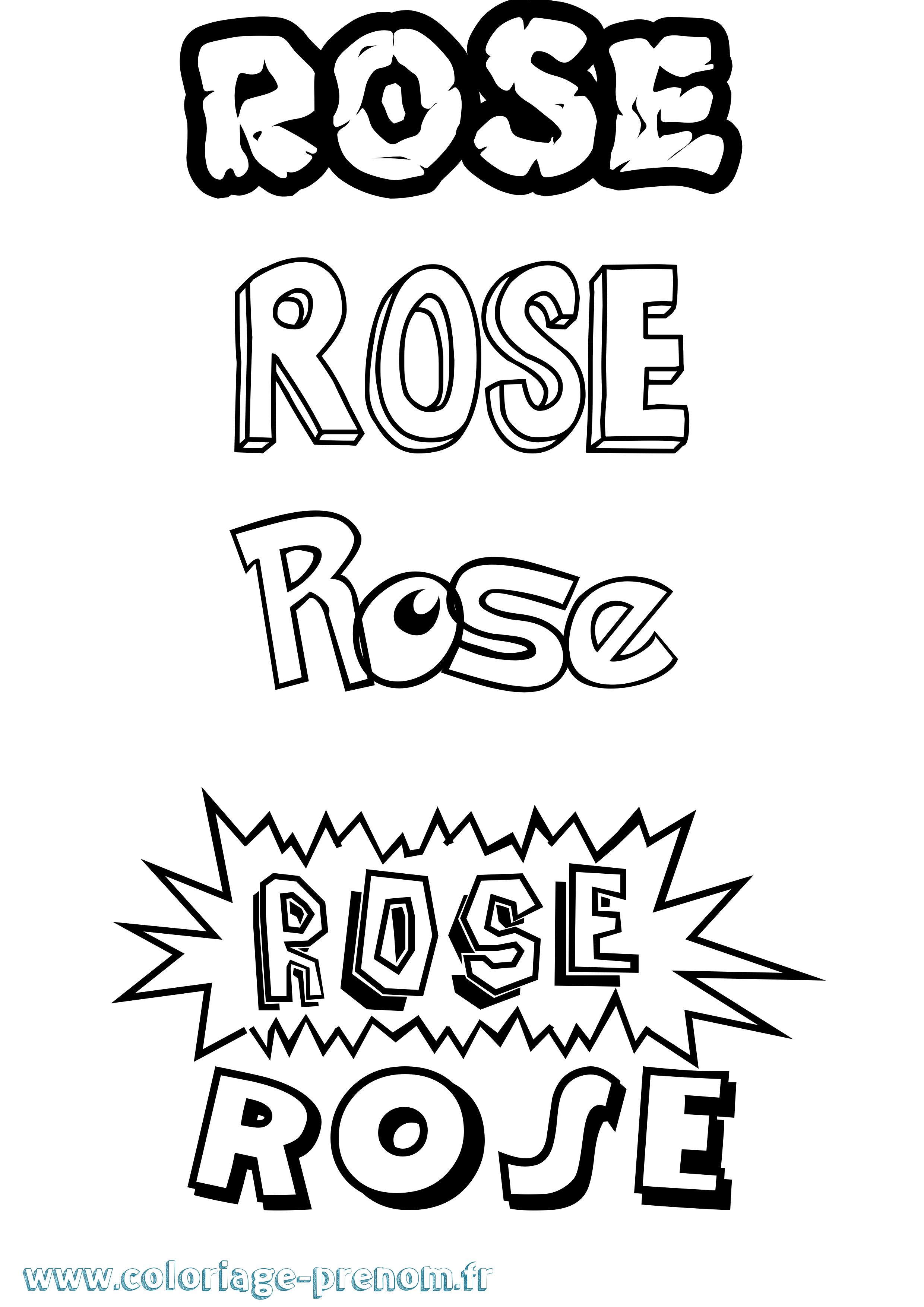 Coloriage du prénom Rose : à Imprimer ou Télécharger ...