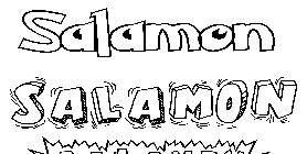 Coloriage Salamon