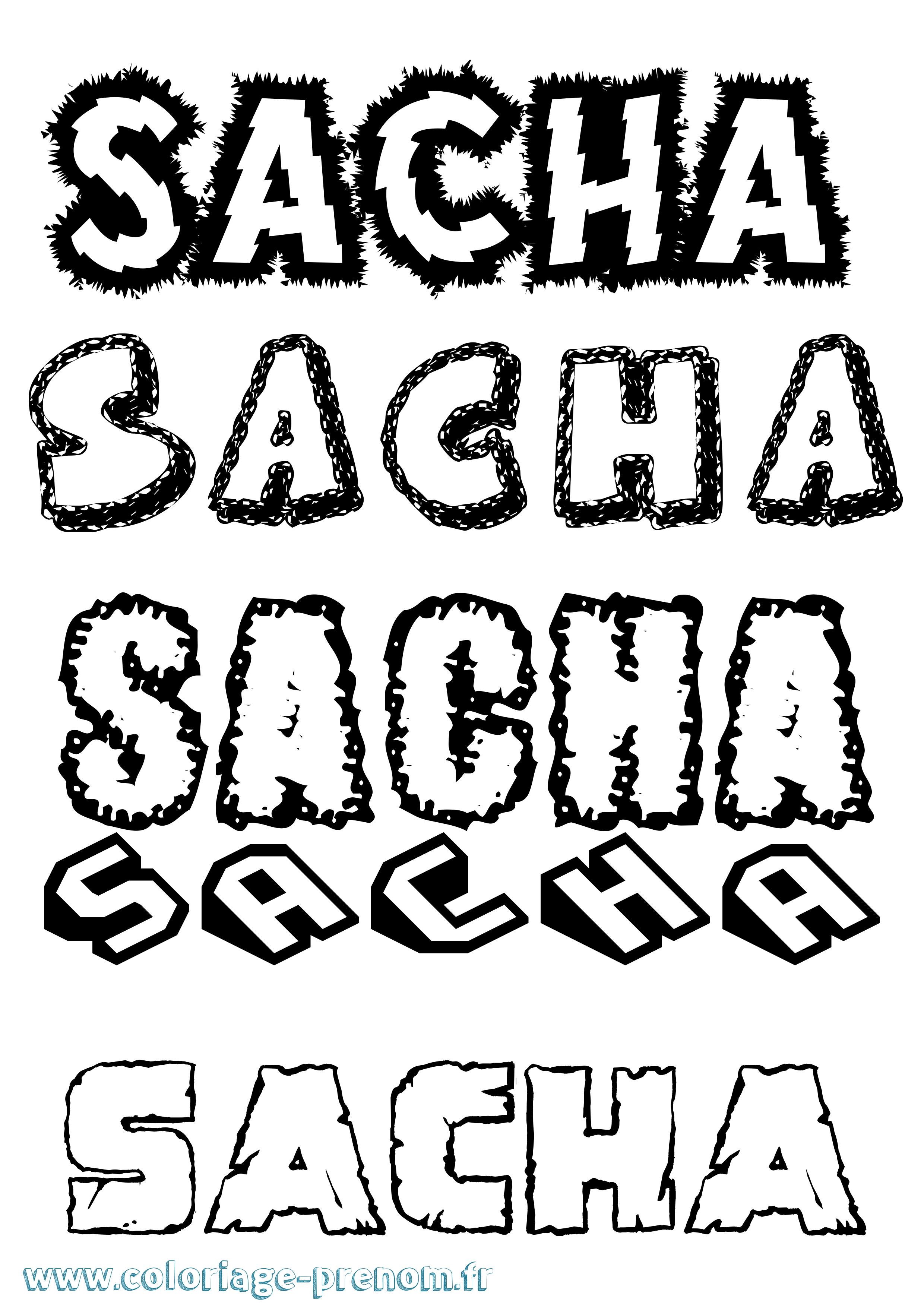 Coloriage du prénom Sacha : à Imprimer ou Télécharger ...