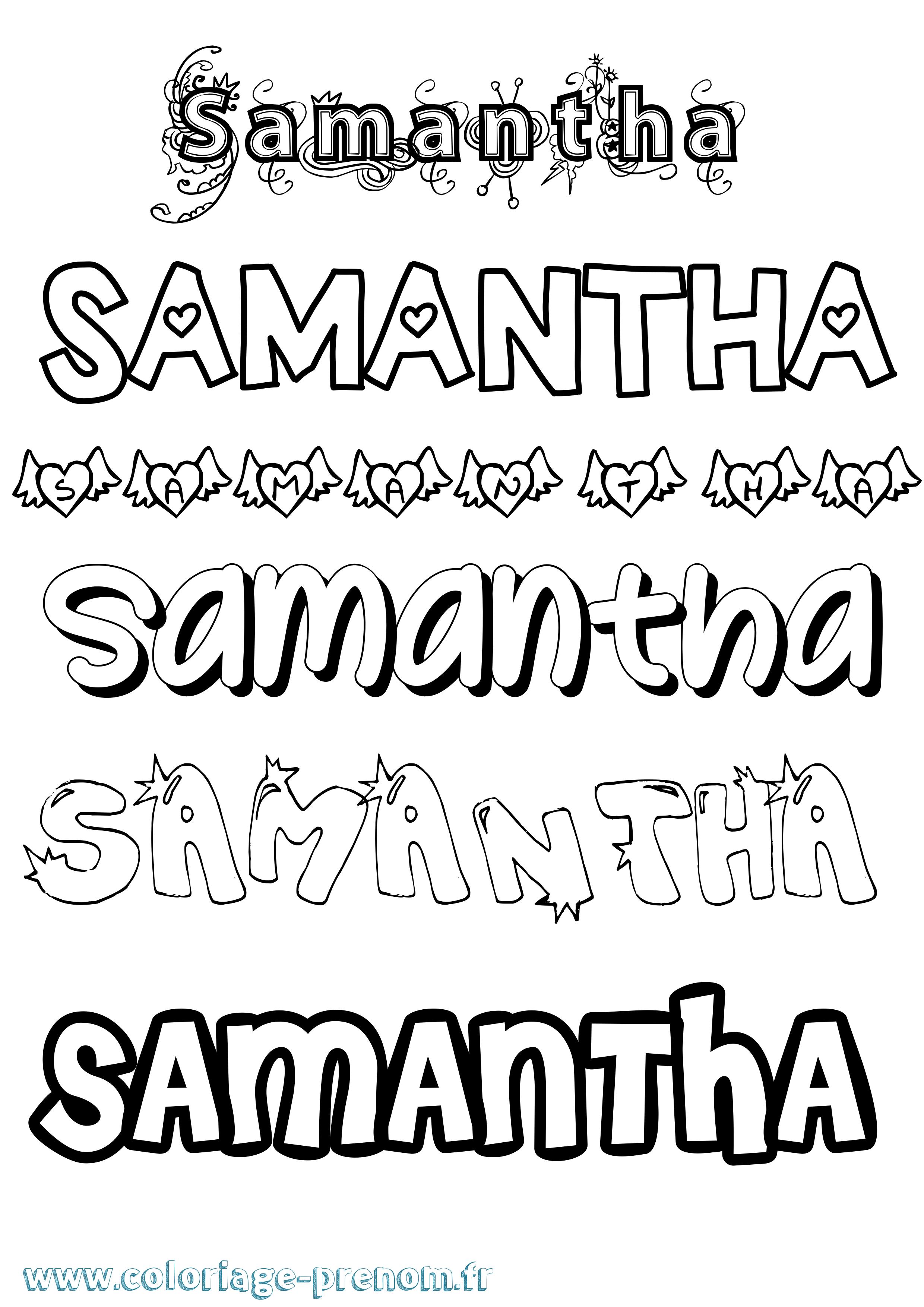 Coloriage du prénom Samantha : à Imprimer ou Télécharger ...