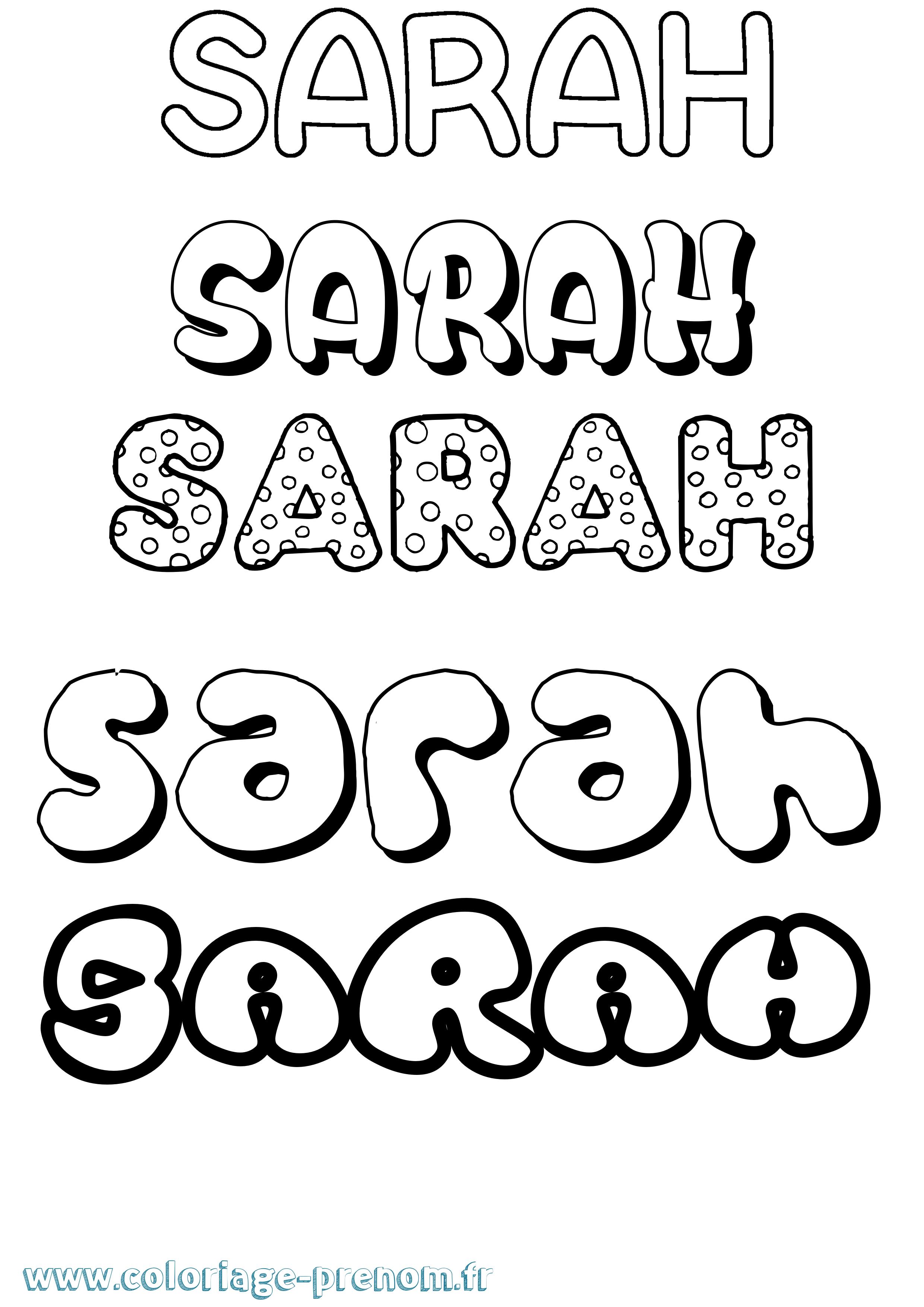 Coloriage Du Prénom Sarah à Imprimer Ou Télécharger Facilement