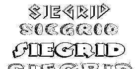 Coloriage Siegrid