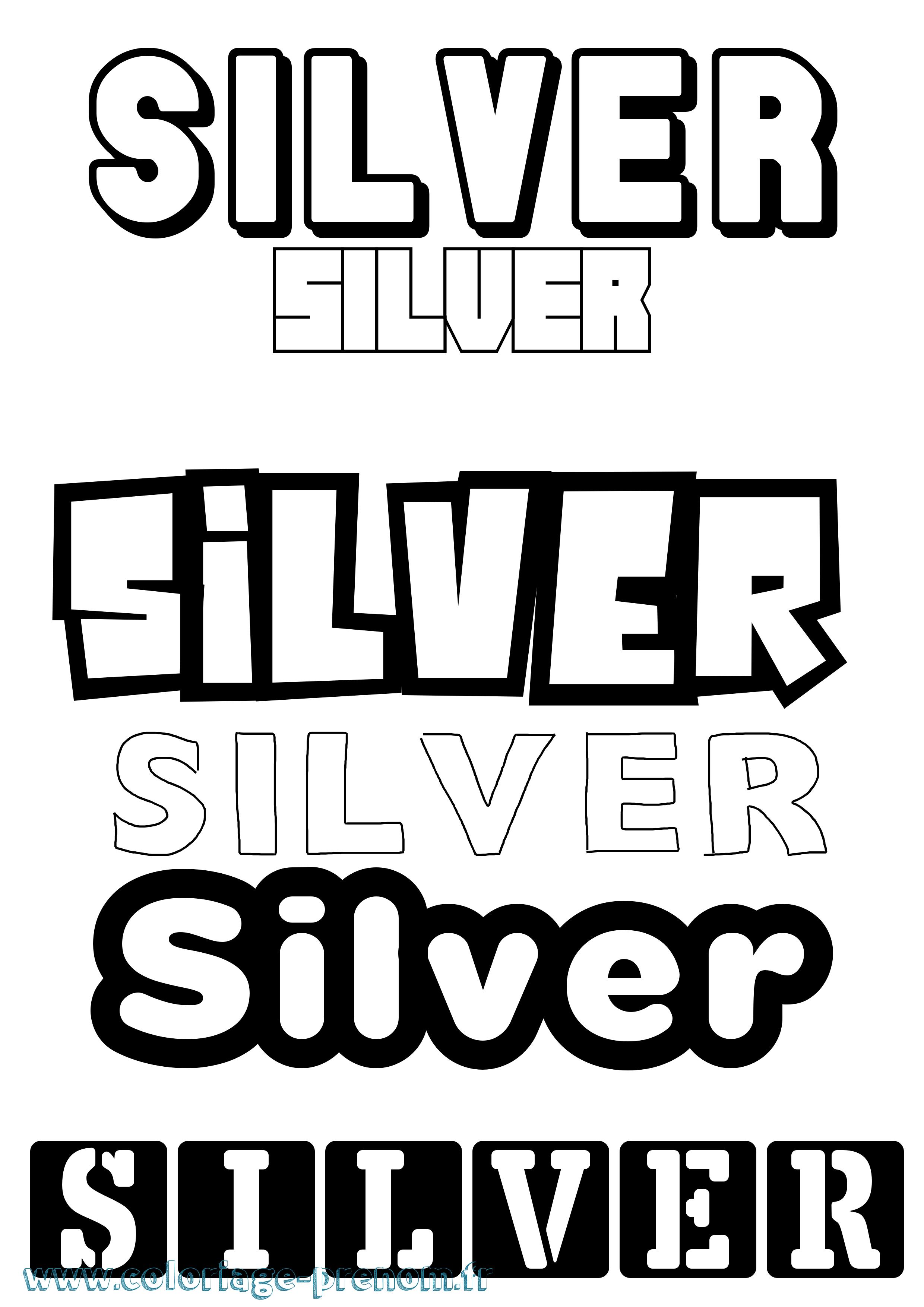 Coloriage du prénom Silver : à Imprimer ou Télécharger ...