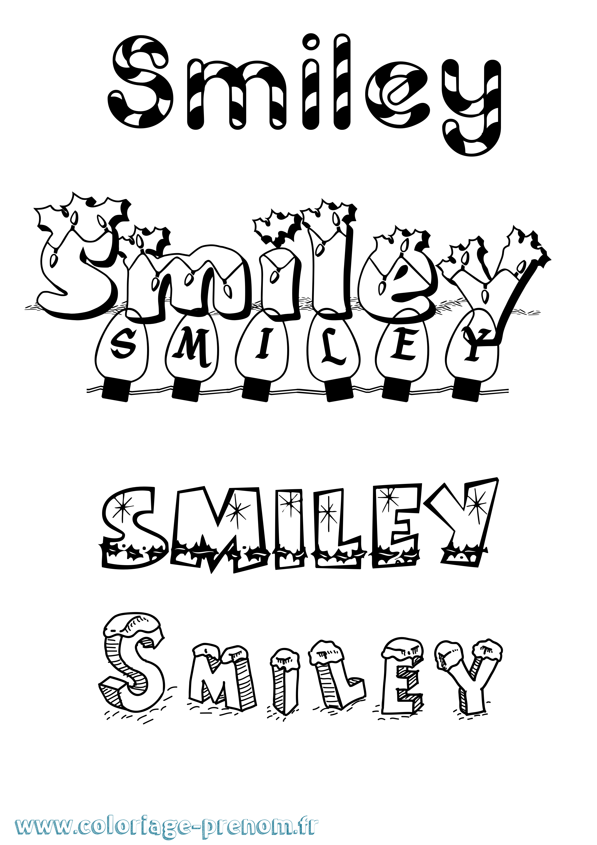 Coloriage A Imprimer Smiley.Coloriage Du Prenom Smiley A Imprimer Ou Telecharger Facilement