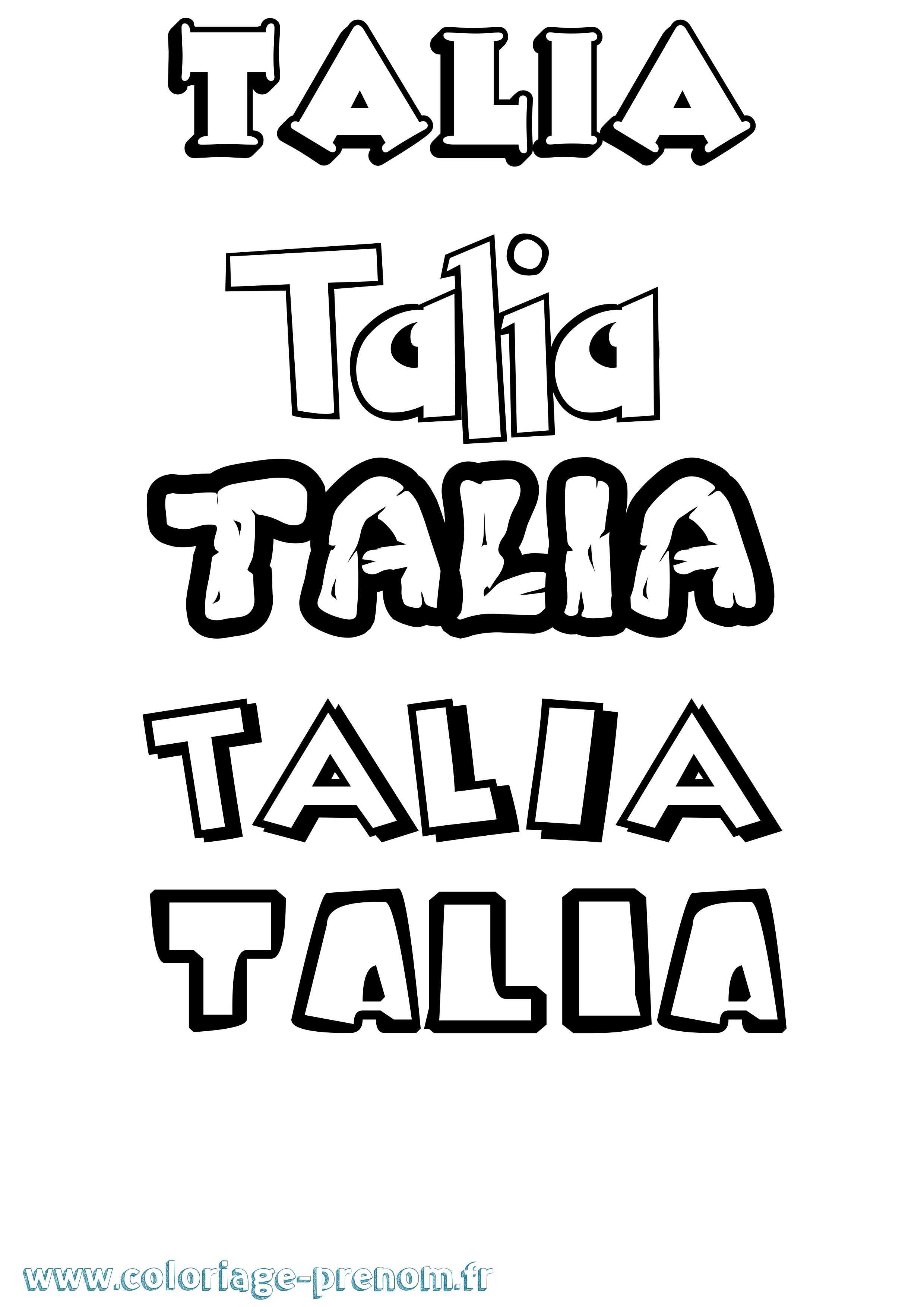 Coloriage du prénom Talia : à Imprimer ou Télécharger ...