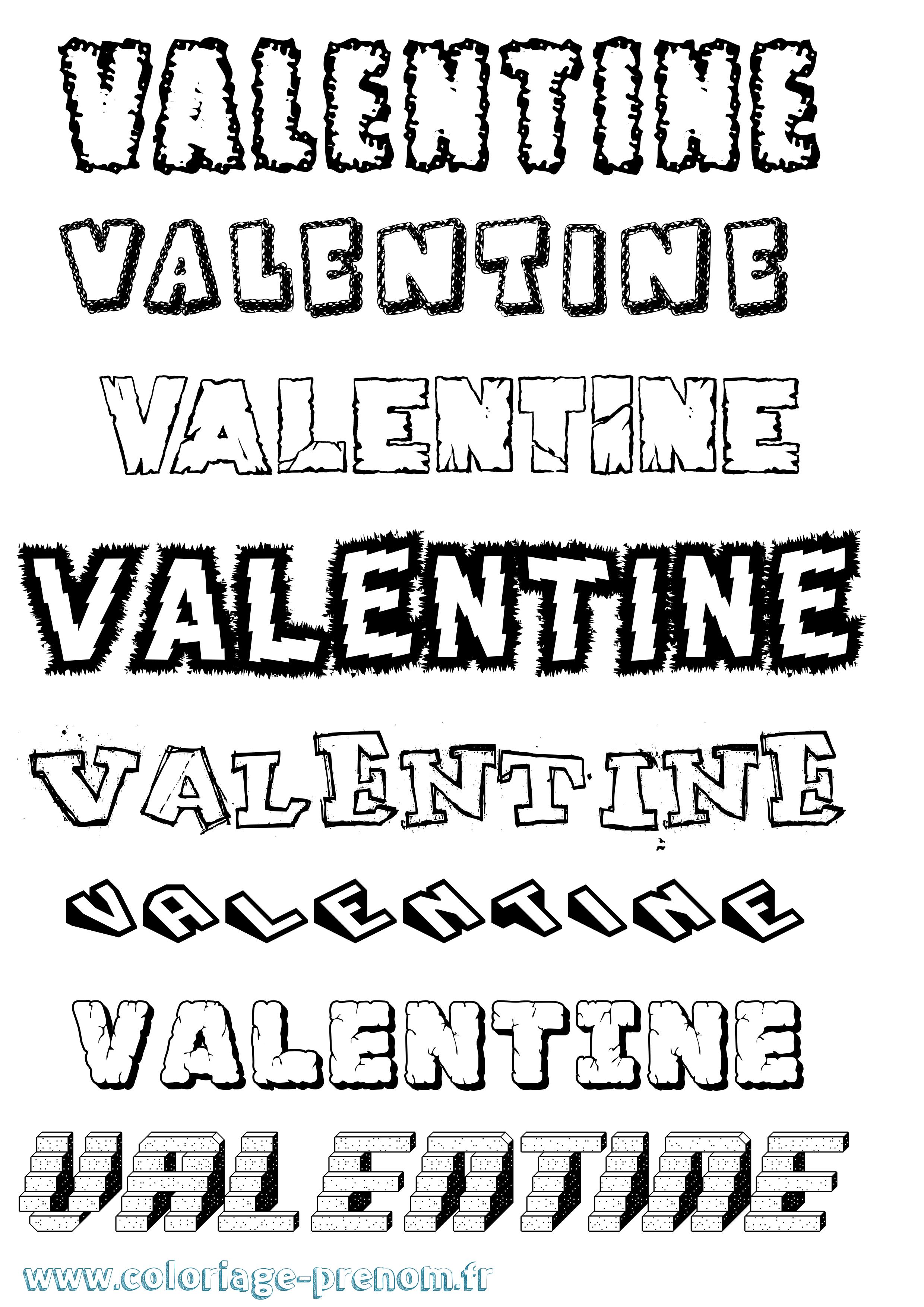 Coloriage du prénom Valentine : à Imprimer ou Télécharger ...