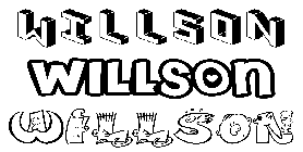 Coloriage Willson