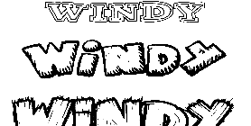 Coloriage Windy