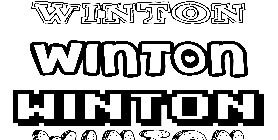 Coloriage Winton