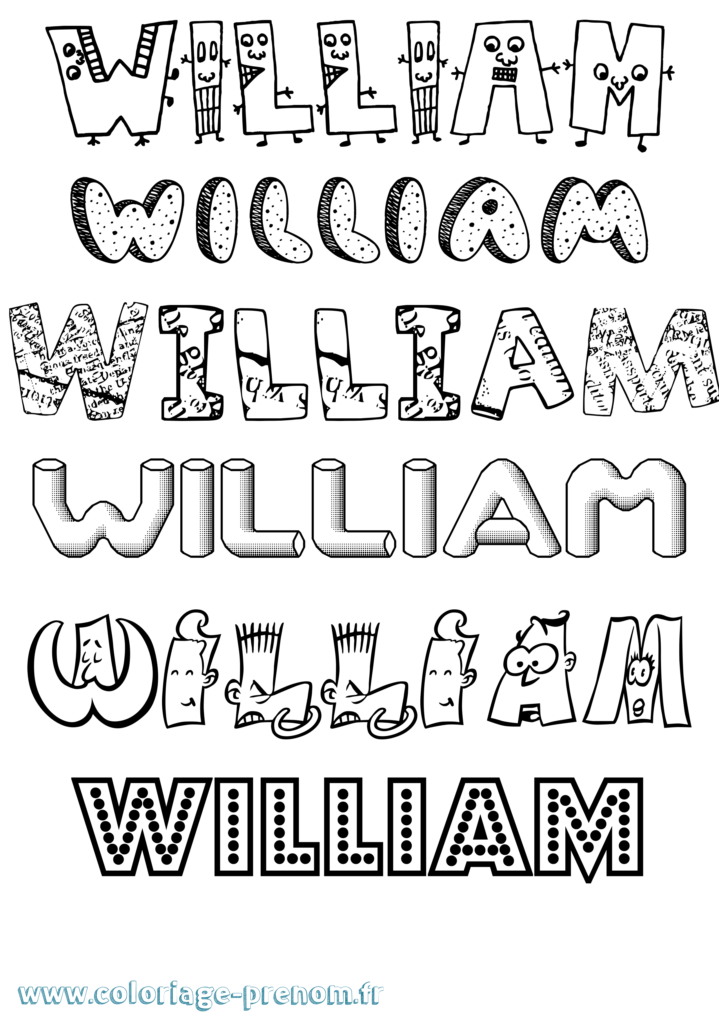 Coloriage prénom William