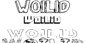 Coloriage Woilid