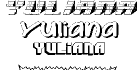 Coloriage Yuliana