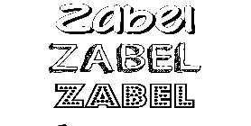 Coloriage Zabel