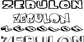 Coloriage Zebulon
